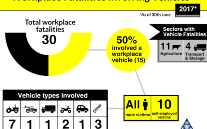 HSA issues Work Related Vehicle deaths at work Q2-17 update