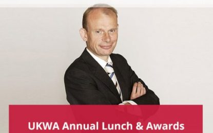 Guest of Honour 2018 UKWA Annual Lunch & Awards is Andrew Marr