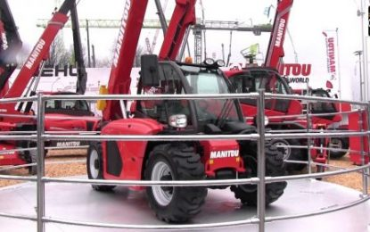 Manitou MC18 forklift: Greater visibility & less noise nuisance