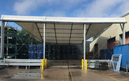 Temporary canopy helps global firm exceed safety standards