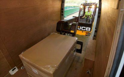 Flooring service with JCB Teletruk