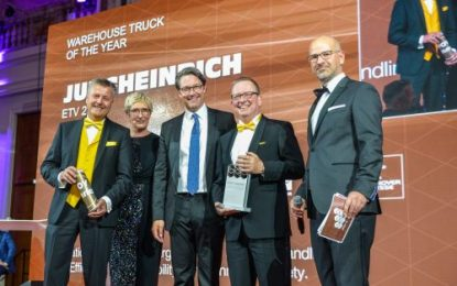 Jungheinrich ETV 216i wins IFOY Award 2019 in Warehouse Truck category