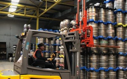 Keg Handling Attachments at Camerons Brewery