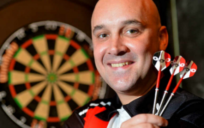 Narrow Aisle hit the bulls-eye with sponsorship deal for darts star Jamie Hughes.