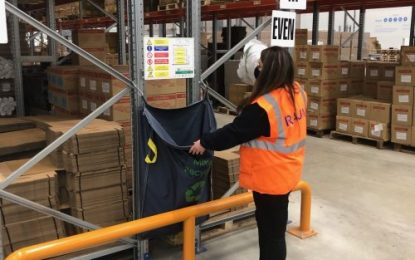 Beaverswood racksack is used by RAJA UK & Ireland to improve warehouse waste management